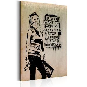 Ljuddämpande tavla - Graffiti Slogan by Banksy - SilentSwede