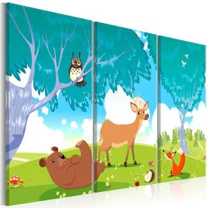 Ljuddämpande tavla - Friendly Animals - SilentSwede