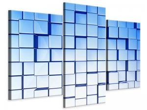 Ljudabsorberande 3 delad tavla-3D Symetrie - SilentSwede