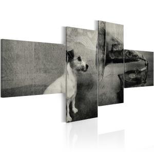 Ljuddämpande tavla - A gramophone and a dog - SilentSwede