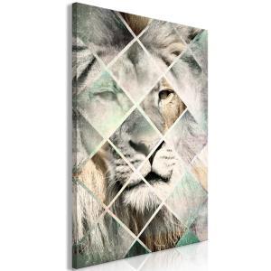 Ljuddämpande tavla - Lion on the Chessboard - SilentSwede