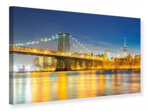 Ljudabsorberande tavla - Brooklyn Bridge At Night - SilentSwede
