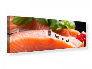 Ljudabsorberande panorama tavla - Fresh Salmon - SilentSwede