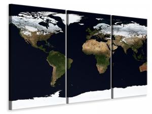 Ljuddämpande tavla - Artful map - SilentSwede