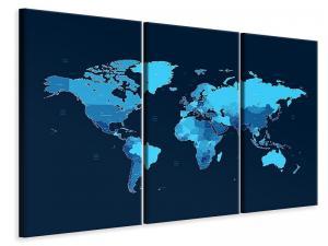 Ljuddämpande tavla - World Map - SilentSwede