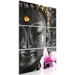 Ljuddämpande tavla - Buddha and Flower Vertical - SilentSwede