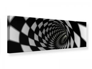 Ljudabsorberande panorama tavla - Abstract Tunnel Black & White - SilentSwede
