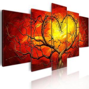 Ljuddämpande tavla - Burning Heart - SilentSwede