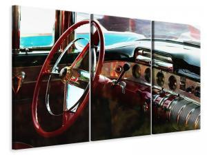 Ljuddämpande tavla - Interior of a vintage car - SilentSwede
