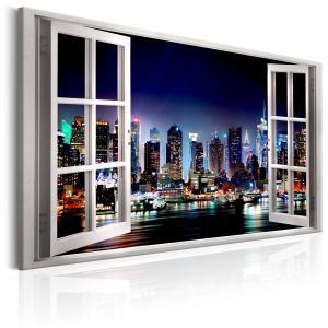 Ljuddämpande & ljudabsorberande tavla - Window: View of New York - SilentSwede
