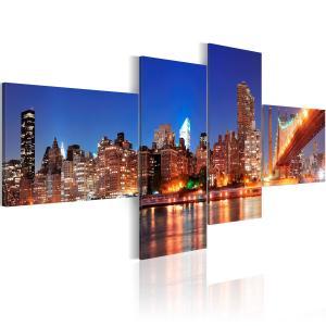 Ljuddämpande tavla - Night panorama - NYC - SilentSwede