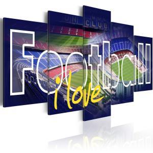 Ljuddämpande tavla - Football My Love - SilentSwede
