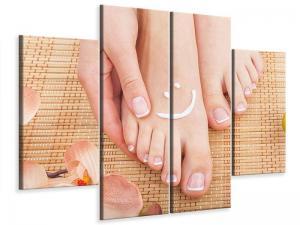 Ljudabsorberande 4 delad tavla-Beautiful Feet - SilentSwede