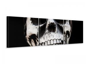 Ljudabsorberande panorama 3 delad tavla - Skull - SilentSwede
