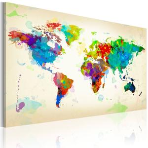 Ljuddämpande & ljudabsorberande tavla - All colors of the World - SilentSwede