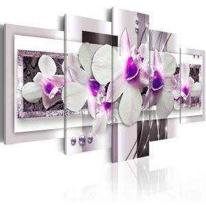 Ljuddämpande tavla - With violet accent - SilentSwede