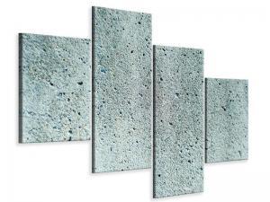 Ljudabsorberande modern 4 delad tavla - Concrete Gray - SilentSwede