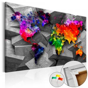 Ljuddämpande anslagstavla - Cubic World - SilentSwede