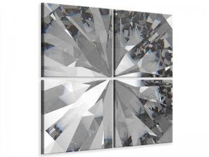 Ljudabsorberande 4 delad tavla - Giant Diamond - SilentSwede