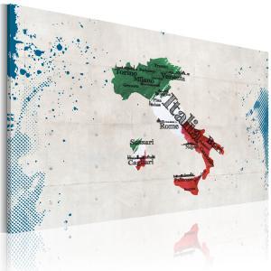 Ljuddämpande & ljudabsorberande tavla - Karta över Italien - SilentSwede