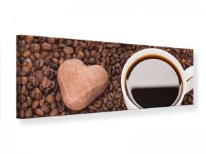 Ljudabsorberande panorama tavla - Lovely Coffee Break - SilentSwede