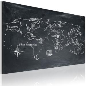 Ljuddämpande & ljudabsorberande tavla - Geografi lektion - SilentSwede