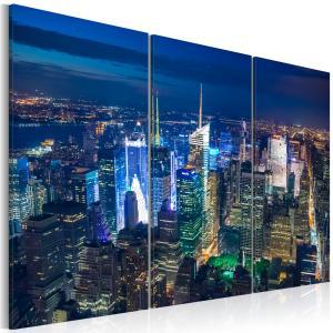 Ljuddämpande tavla - Bird´s eye view of New York City by night - SilentSwede