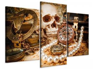 Ljudabsorberande 3 delad tavla-Treasure Hunt - SilentSwede