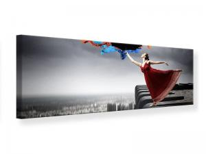 Ljudabsorberande panorama tavla - Dance On Skyscraper - SilentSwede