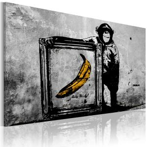 Ljuddämpande & ljudabsorberande tavla - Inspired by Banksy - black and white - SilentSwede