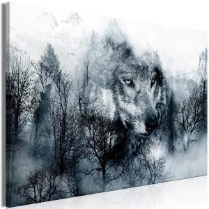 Ljuddämpande tavla - Mountain Predator Black and White - SilentSwede