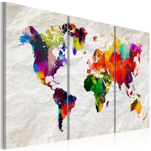 Ljuddämpande tavla - World Map: Rainbow Madness II - SilentSwede