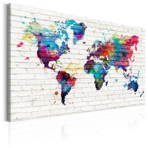Ljuddämpande & ljudabsorberande tavla - Modern Style: Walls of the World - SilentSwede