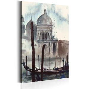 Ljuddämpande & ljudabsorberande tavla - Watercolour Venice - SilentSwede