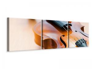 Ljudabsorberande panorama 3 delad tavla - Violin - SilentSwede