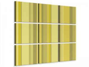 Ljudabsorberande 9 delad tavla - Stripes - SilentSwede