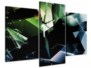 Ljudabsorberande 3 delad tavla-3D Polygon - SilentSwede