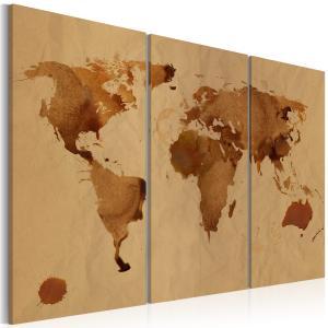 Ljuddämpande tavla - Världen målad med kaffe - SilentSwede