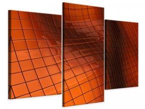 Ljudabsorberande 3 delad tavla-3D Tiles - SilentSwede
