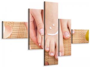 Ljudabsorberande 5 delad tavla-Beautiful Feet - SilentSwede