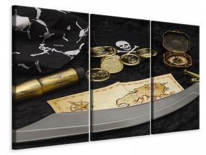 Ljuddämpande tavla - Pirate plan - SilentSwede