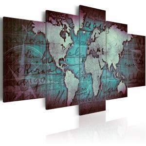 Ljuddämpande tavla - Sapphire Map - SilentSwede