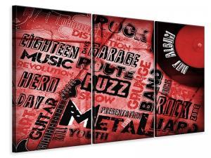 Ljuddämpande tavla - Writings Music Grunge - SilentSwede