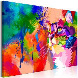 Ljuddämpande & ljudabsorberande tavla - Colourful Cat - SilentSwede