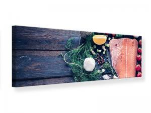 Ljudabsorberande panorama tavla - Fresh Fish - SilentSwede