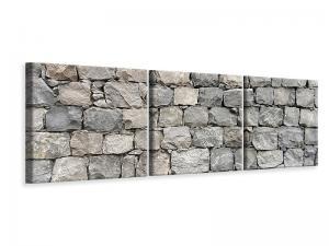 Ljuddämpande tavla - Gray stone wall - SilentSwede