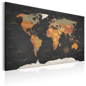 Ljuddämpande tavla - World Map: Secrets of the Earth - SilentSwede