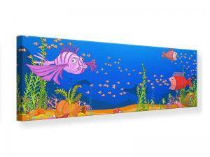 Ljudabsorberande panorama tavla - Treasure Underwater - SilentSwede
