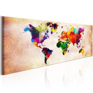 Ljuddämpande tavla - World Map: Colourful Ramble - SilentSwede