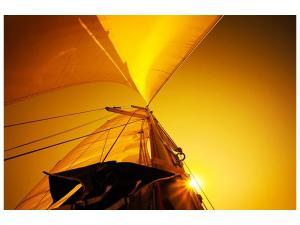 Ljudabsorberande tavla - Sailboat In The Sunset - SilentSwede
